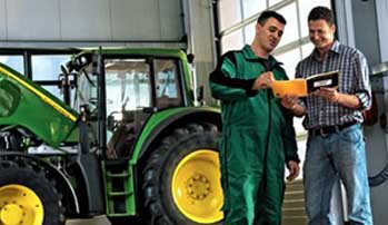 Equipment repair and tractor maintenance available at Ballweg Implement.